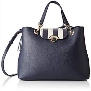 Tommy Hilfiger Effortless Satchel Medium Navy